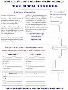 WM Lawyers ICBC Accident Checklist
